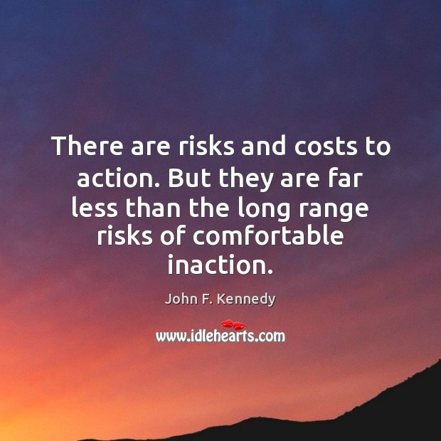 Image, There are risks and costs to action. But they are far less