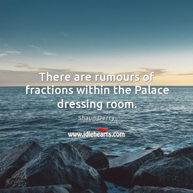 There are rumours of fractions within the Palace dressing room. Image