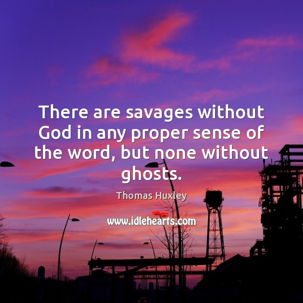 There are savages without God in any proper sense of the word, but none without ghosts. Image