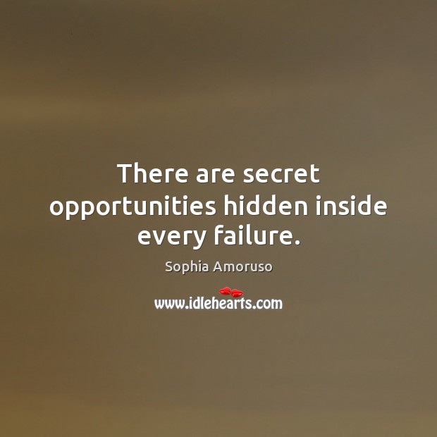 There are secret opportunities hidden inside every failure. Image