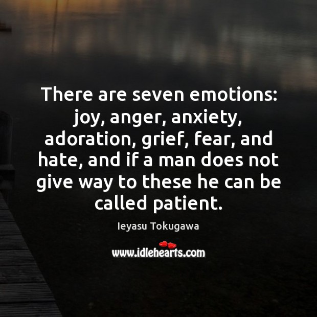 Image, There are seven emotions: joy, anger, anxiety, adoration, grief, fear, and hate,