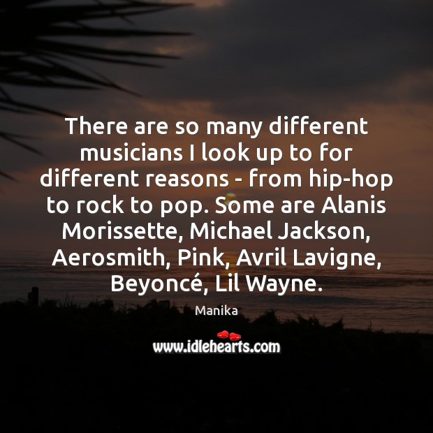 Image, There are so many different musicians I look up to for different