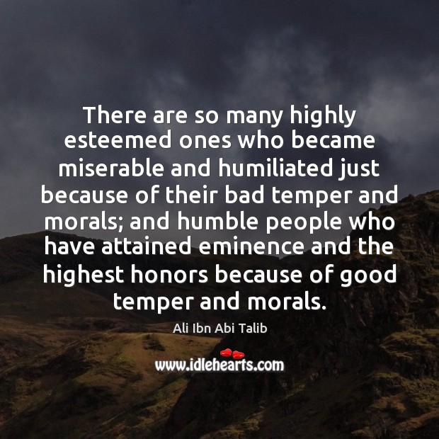 There are so many highly esteemed ones who became miserable and humiliated Ali Ibn Abi Talib Picture Quote