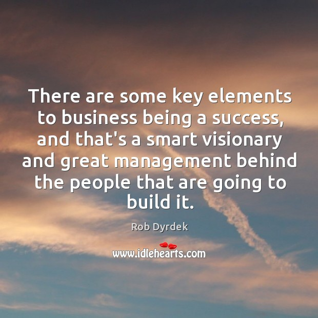 There are some key elements to business being a success, and that's Image