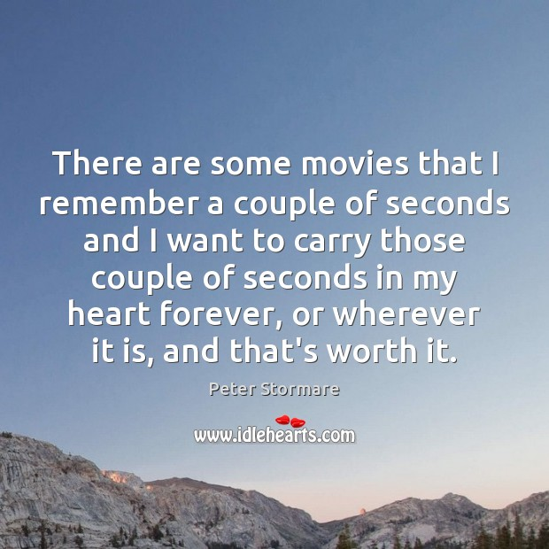 There are some movies that I remember a couple of seconds and Image