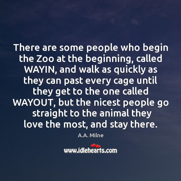 Image, There are some people who begin the Zoo at the beginning, called