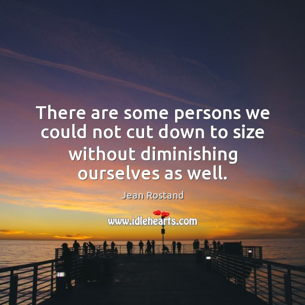 There are some persons we could not cut down to size without Jean Rostand Picture Quote