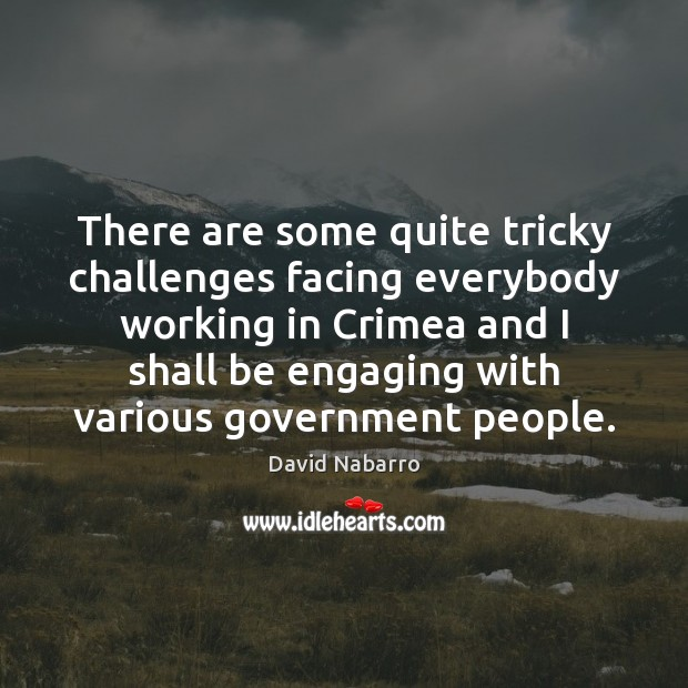 Image, There are some quite tricky challenges facing everybody working in Crimea and