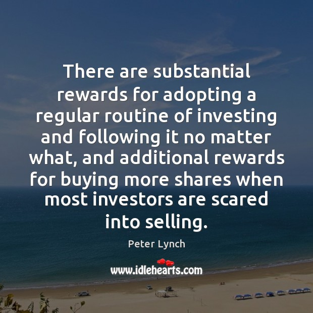 There are substantial rewards for adopting a regular routine of investing and Image