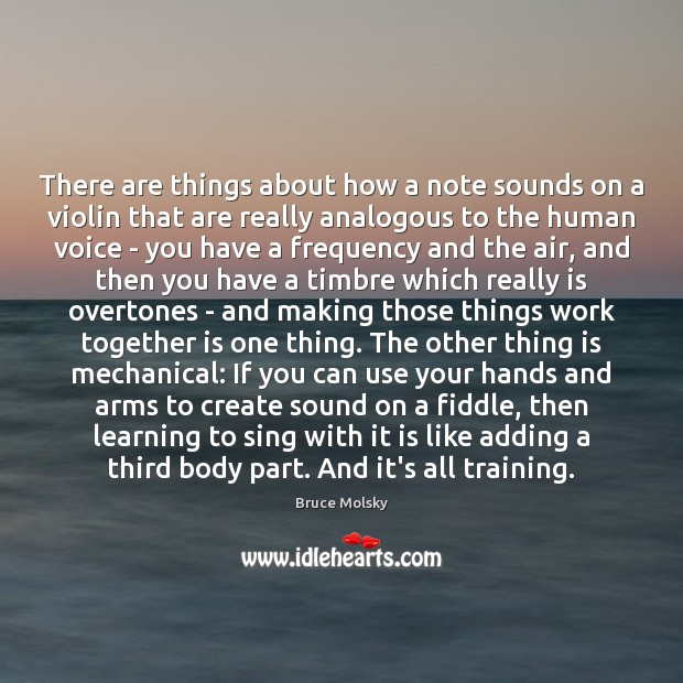 Image, There are things about how a note sounds on a violin that