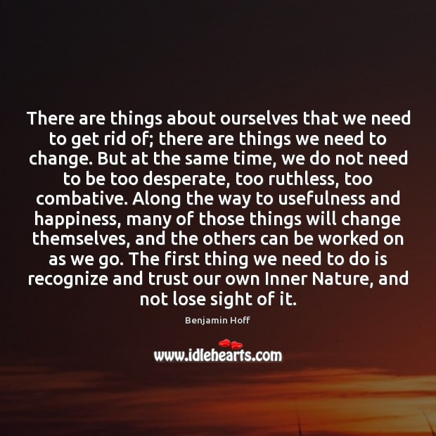 There are things about ourselves that we need to get rid of; Image