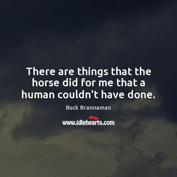 Image, There are things that the horse did for me that a human couldn't have done.