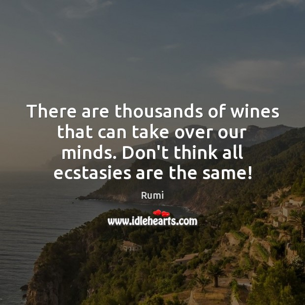 There are thousands of wines that can take over our minds. Don't Image