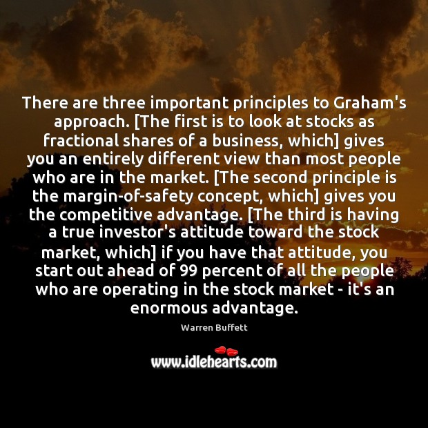 Image, There are three important principles to Graham's approach. [The first is to