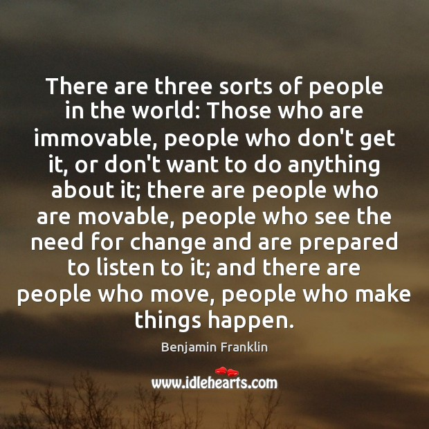 There are three sorts of people in the world: Those who are Image