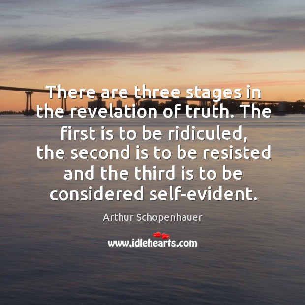 Image, There are three stages in the revelation of truth. The first is