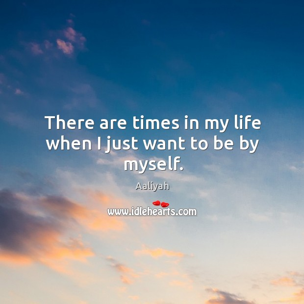 There are times in my life when I just want to be by myself. Aaliyah Picture Quote
