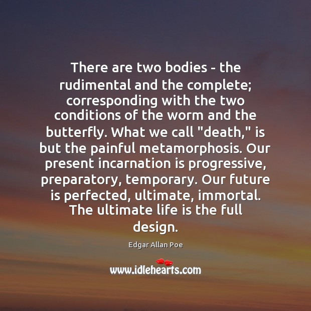 Image, There are two bodies – the rudimental and the complete; corresponding with