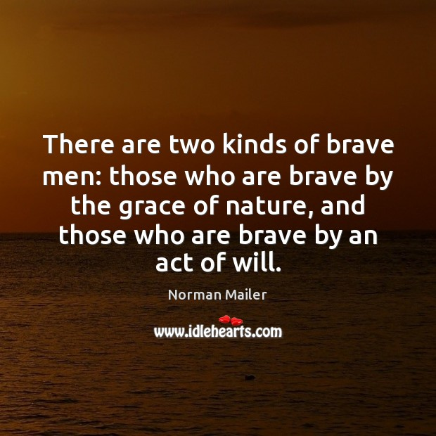 There are two kinds of brave men: those who are brave by Image