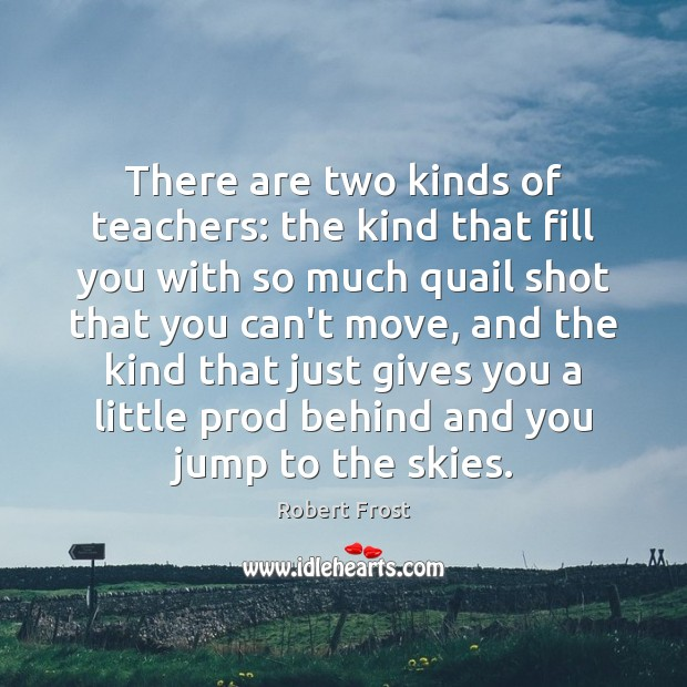 Image, There are two kinds of teachers: the kind that fill you with