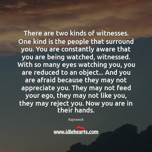 There are two kinds of witnesses. One kind is the people that Image
