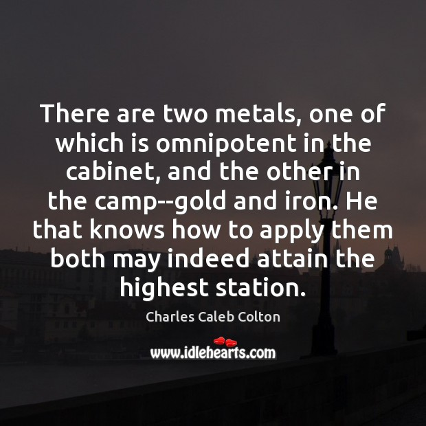 Image, There are two metals, one of which is omnipotent in the cabinet,