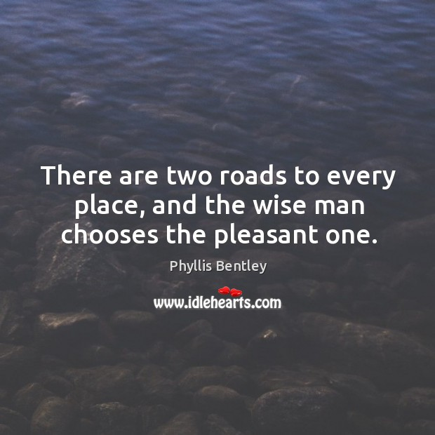 There are two roads to every place, and the wise man chooses the pleasant one. Image