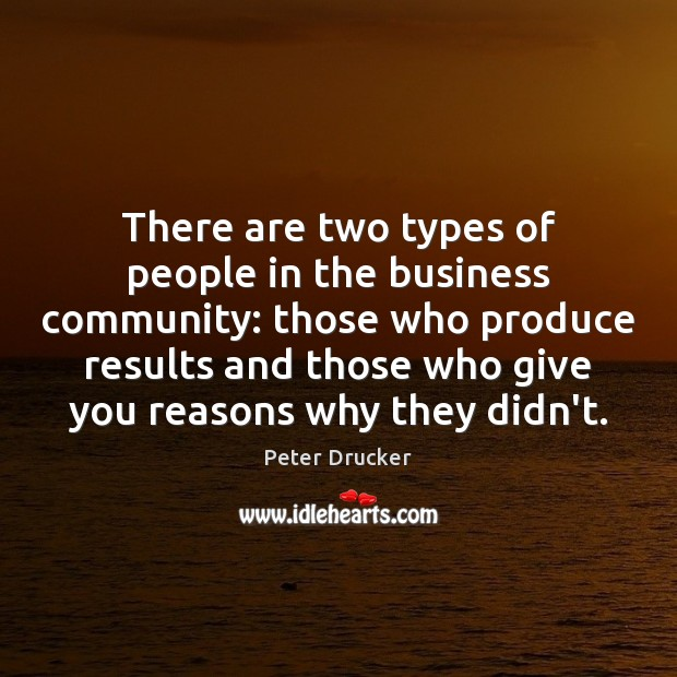 There are two types of people in the business community: those who Image