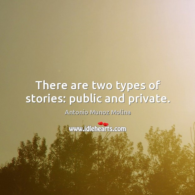 Image, There are two types of stories: public and private.