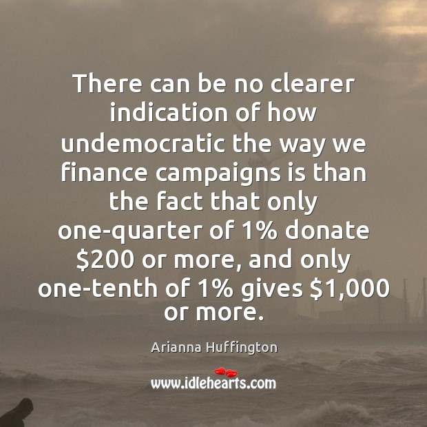 There can be no clearer indication of how undemocratic the way we Donate Quotes Image