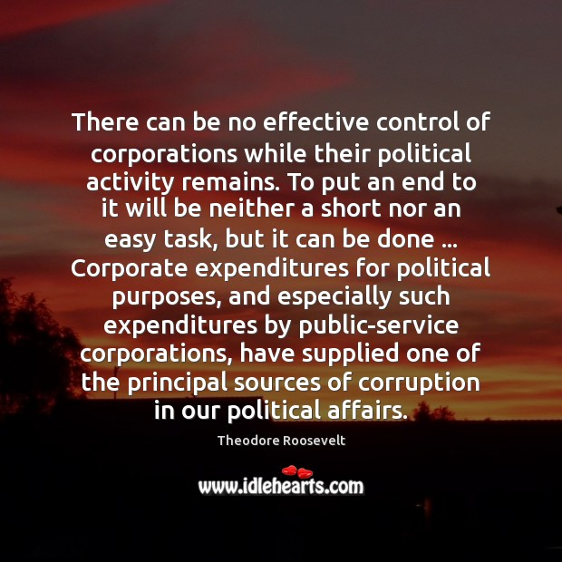 Image, There can be no effective control of corporations while their political activity