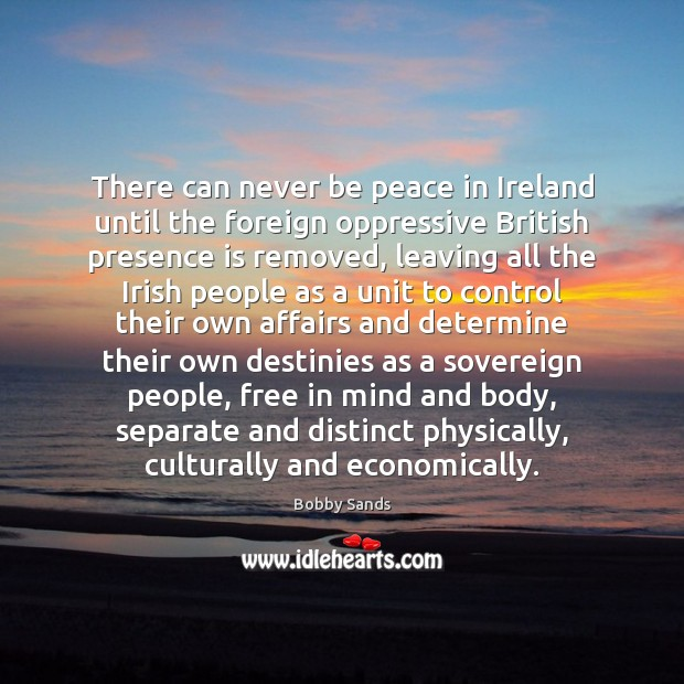 Image, There can never be peace in Ireland until the foreign oppressive British