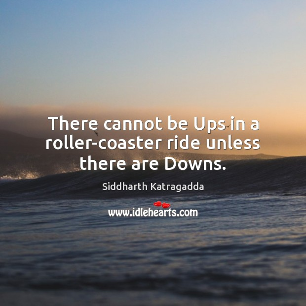 Image, There cannot be Ups in a roller-coaster ride unless there are Downs.