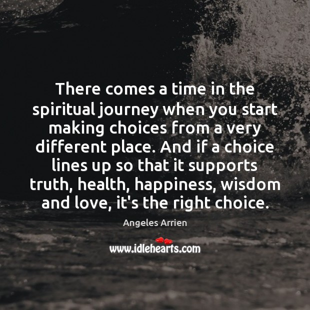 There comes a time in the spiritual journey when you start making Image