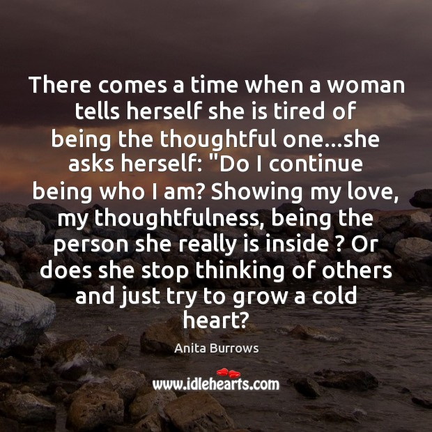 Image, There comes a time when a woman tells herself she is tired