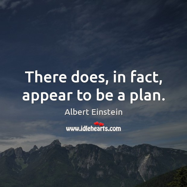 There does, in fact, appear to be a plan. Image