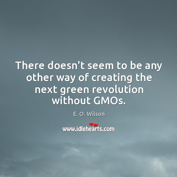 Image, There doesn't seem to be any other way of creating the next green revolution without GMOs.