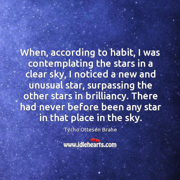 Image, There had never before been any star in that place in the sky.