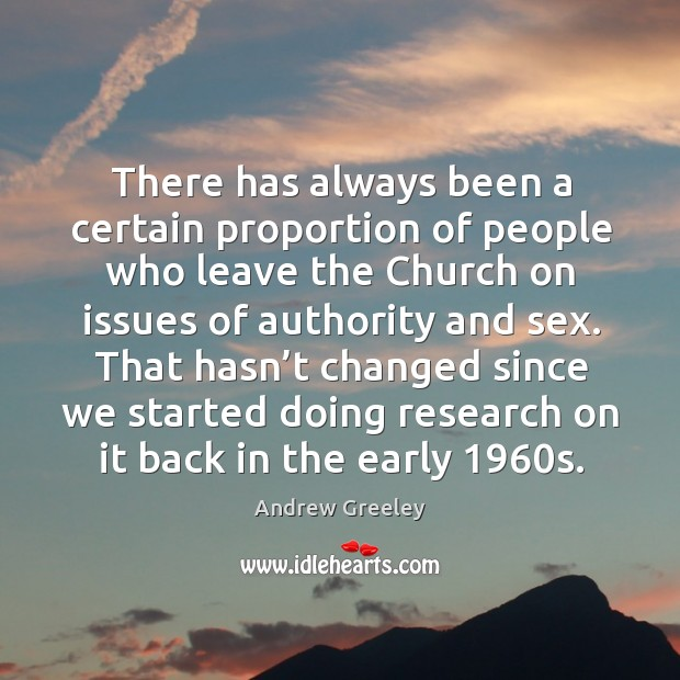 Image, There has always been a certain proportion of people who leave the church on issues of authority and sex.