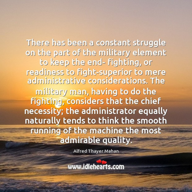 Image, There has been a constant struggle on the part of the military