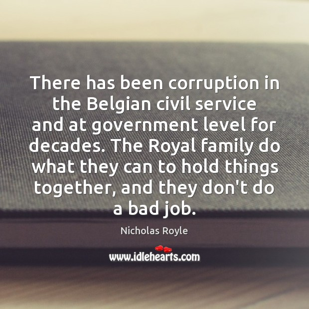 Image, There has been corruption in the Belgian civil service and at government