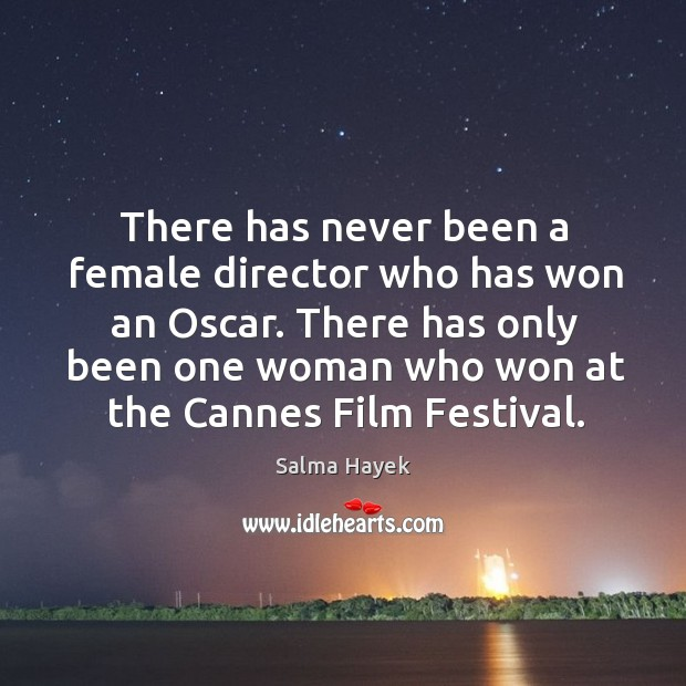 There has only been one woman who won at the cannes film festival. Image