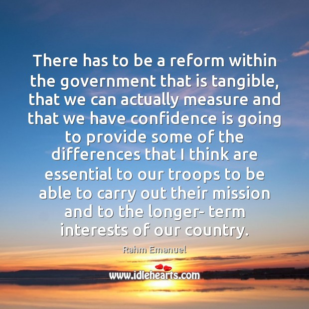 There has to be a reform within the government that is tangible, Image