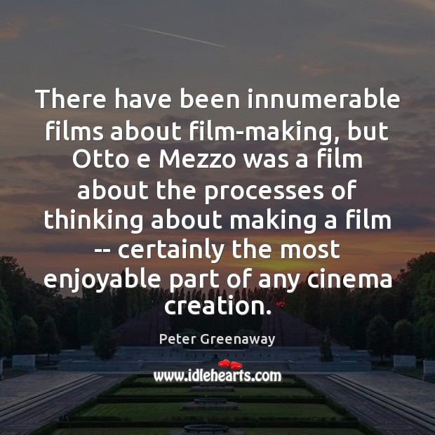 There have been innumerable films about film-making, but Otto e Mezzo was Image