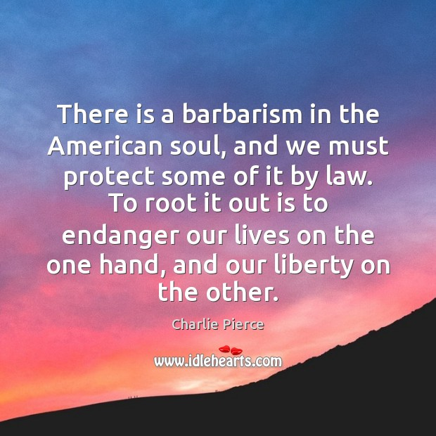 There is a barbarism in the American soul, and we must protect Image