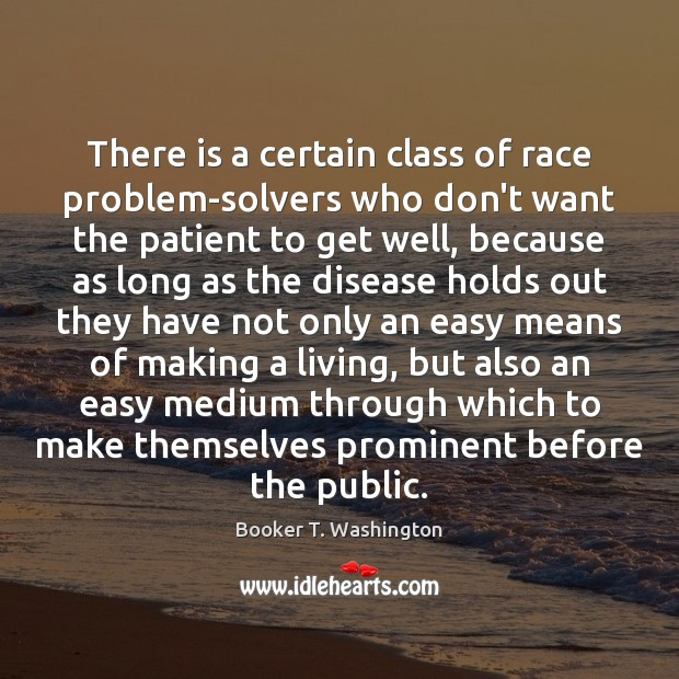 Image, There is a certain class of race problem-solvers who don't want the