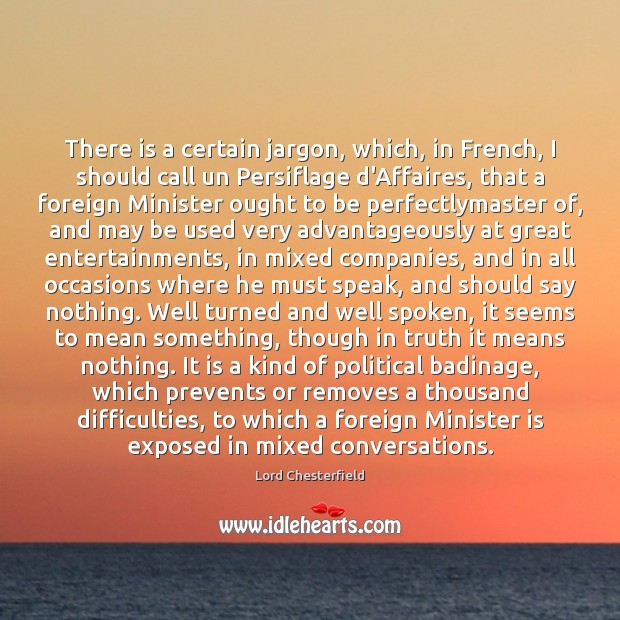 Image, There is a certain jargon, which, in French, I should call un