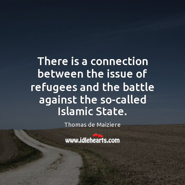 Image, There is a connection between the issue of refugees and the battle