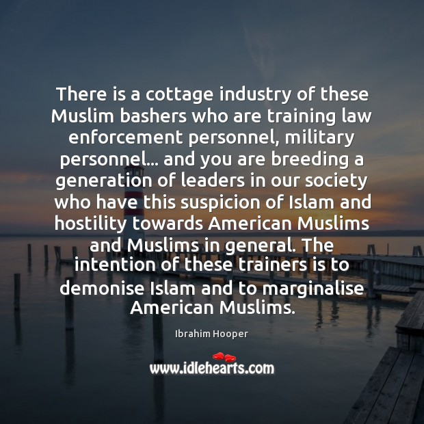 Image, There is a cottage industry of these Muslim bashers who are training