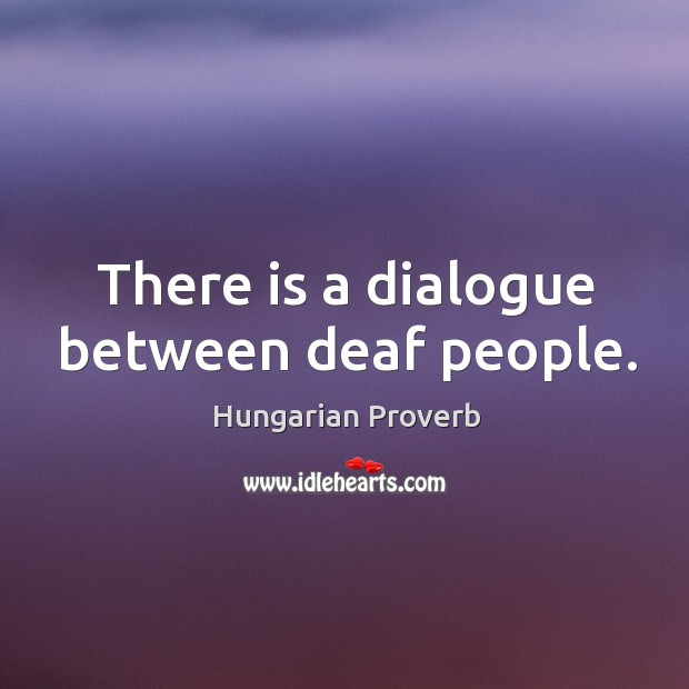Image, There is a dialogue between deaf people.
